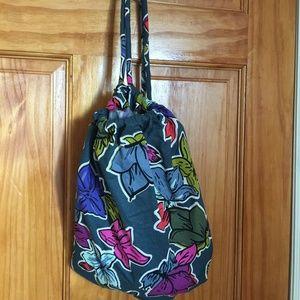 Vera Bradley ditty bag in falling flowers